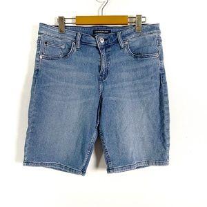 Calvin Klein Bermuda Style Denim Shorts Size 14